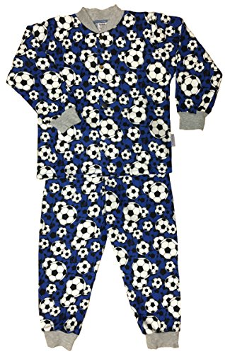 Snoozers 100% Cotton Flannel Boys Soccer Print Pajama Set (11/12yrs) (Hockey Pjs For Boys)