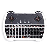 JingXiGuoJi® V6A 2.4G Wireless Gaming Air Fly Mouse Touchpad Keyboard Remote Control for M8 MXIII MXQ MX Andriod Tv Box Google Smart Dongle WIN PC (white)