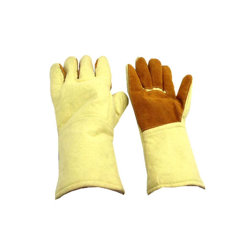 YYTLST Heat-Resistant Gloves, High Temperature Resistant, Anti-Scald and Wear-Resistant, Suitable for Oven Welding and Smelting, Length 35cm (Color : One Pair) by YYTLST