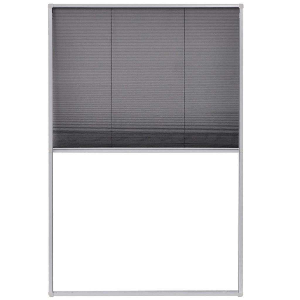 vidaXL Insektenschutz Alurahmen 120x120 cm Dachfenster Plissee Fliegengitter