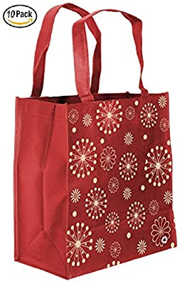 Reusable Grocery Bag with Reinforced Handles and Loop for Grocery Stores - Includes Insert on Bottom of Bag