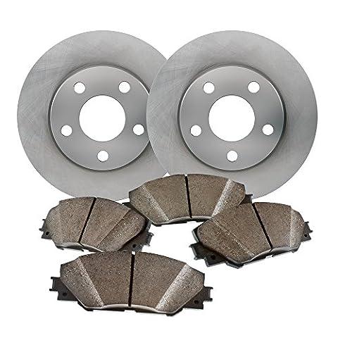 Rear Low Dust Ceramic Pads and Premium Quiet Tecnology Brake Rotors - for 1998 Chevrolet T10 Blazer & - 17077 Kit