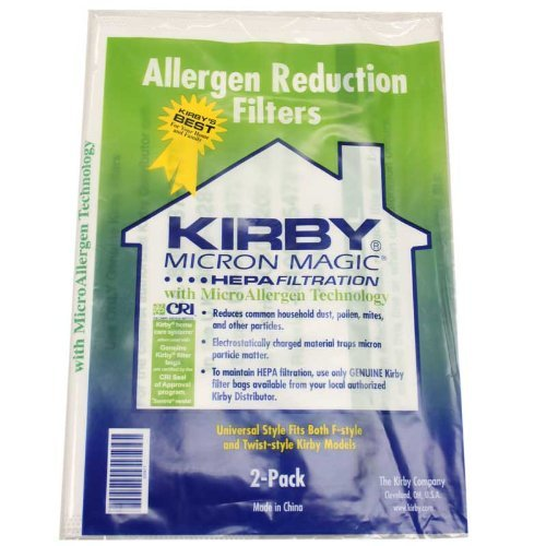 Kirby Style F Allergen Reduction Bags 2 per pack 205808