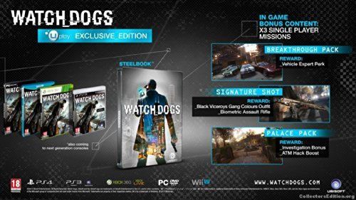 Watch Dogs - Uplay Exclusive Edition [PS3]: Amazon co uk: PC & Video