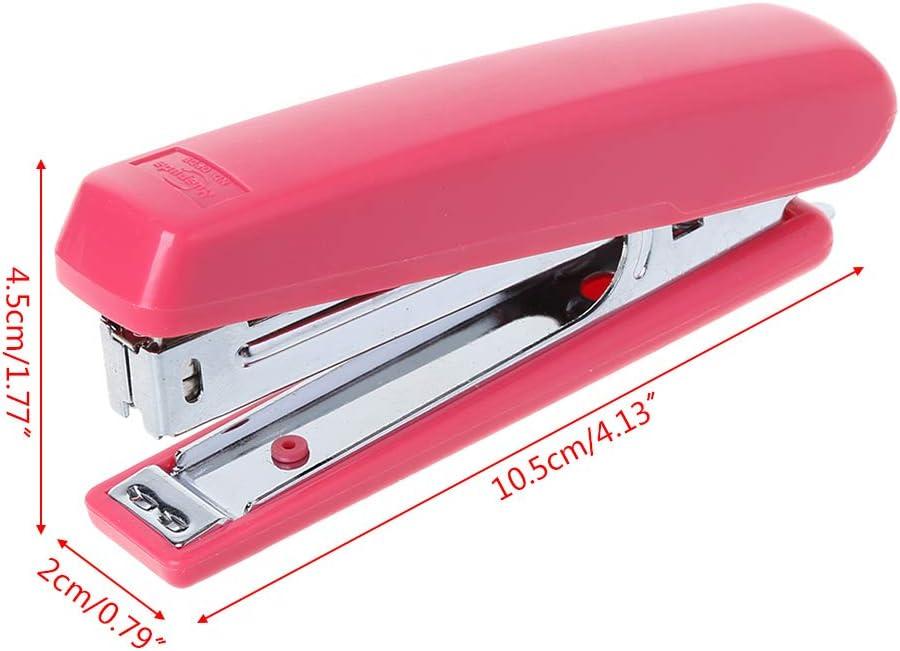 GROOMY Cucitrice Manuale Portatile in Metallo Utilizza Il Numero 10 Staples Forniture per Ufficio da banco Rosso