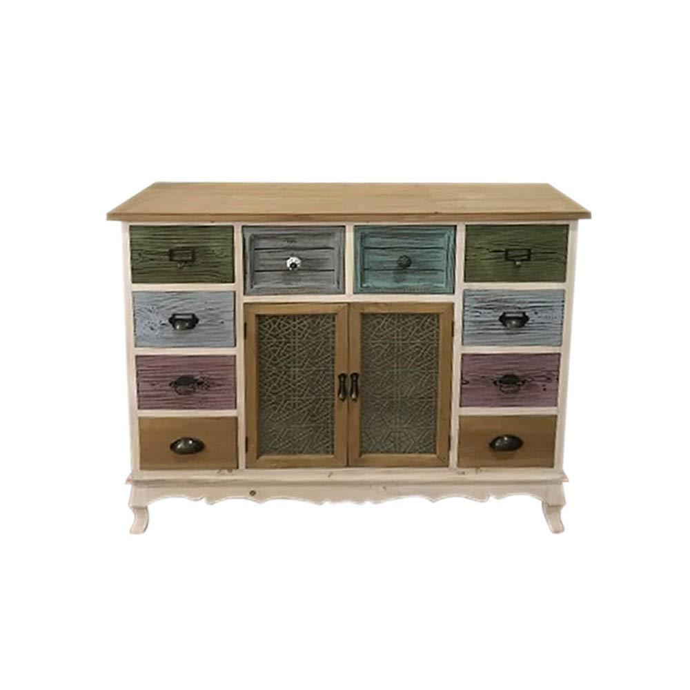 Gicos–Mueble Credenza de Madera, 2Puertas 10cajones decoración Vintage ntw18023