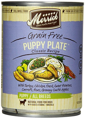 MERRICK PET CARE 295530 12-Pack Puppy Plate Can For Dog, 13.2-Ounce