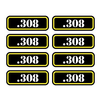 8x .308 Ammo Can Sticker Set Decal Self Adhesive molon labe bullet 308 FA Graphix