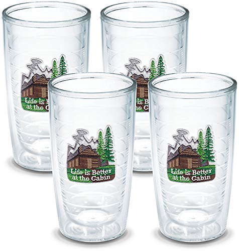 Cabin Life - Tervis Life is Better Cabin Tumbler, 16-Ounce, 4-Pack , Clear - 1102323