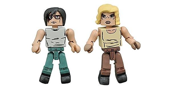 Minimates Walking Dead Series 8 Hilltop Carl And Sophia Figure Set NEW