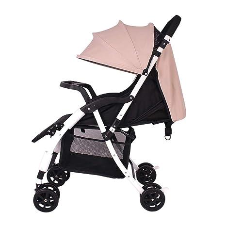 Silla compact plegable,Conveniencia Urbano Cochecito de bebé Todo terreno coche Cochecito adecuado para avión