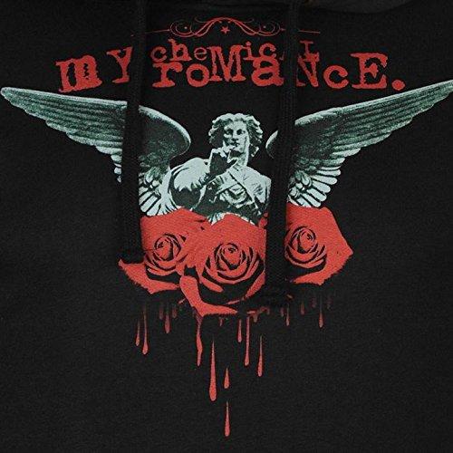 My Chemical Romance direction Bleeding Roses–Felpa con cappuccio da uomo felpa con cappuccio nero