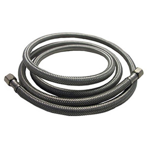 LASCO 10-0950 5-Foot Ice Maker Water Supply Line, Braided Stainless Steel, 1/4-Inch Female Compression X 1/4-Inch Female Compression