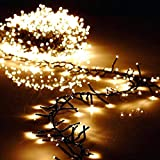 Torix 200 LED String Lights 10 M Mains Operated Warm LED Curtain String Light Christmas party birthday Indoor