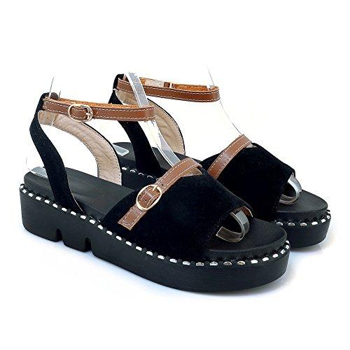 Peep Tacco amp;s Sandali Piatto Informale Toe Mei Black Donna X1FwfqtZ