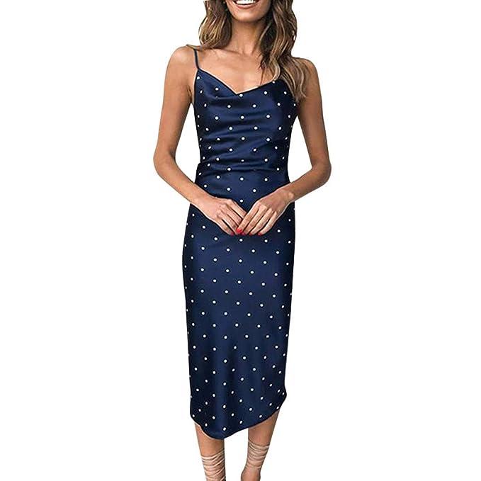 finest selection 8c3cc e86e7 Longra Damen V-Ausschnitt Sommerkleider Damen Nachthemd Sexy ...