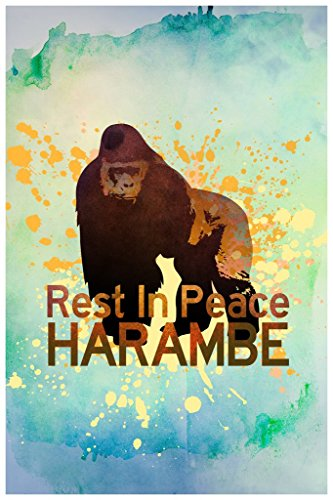 Rest In Peace Harambe The Gorilla Art Print Poster