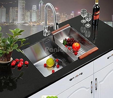 Manuale In Acciaio Inox Lavello Vasca Singola Sconvolto Lu0027Europa E Sotto  Lavello Della Cucina