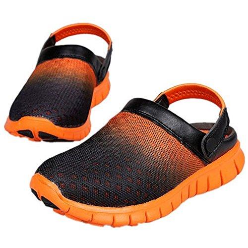 SAGUARO® Unisex respirable de la red del acoplamiento zapatillas de playa ahueca hacia fuera las sandalias naranja