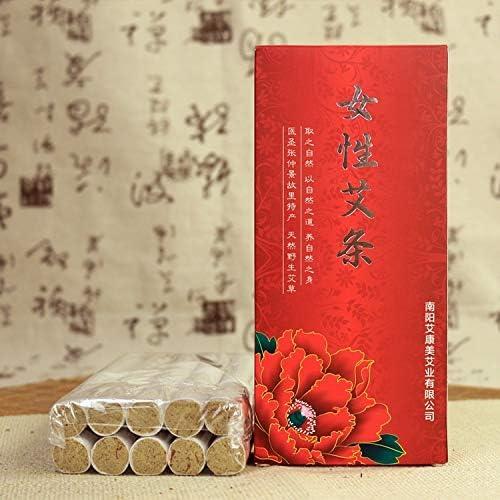 QiQizhang Chinesische Moxa Rein Wilde Beifuß Artemisia Zigarren Artemisia Argyi - Moxa Handbuch Gesundheit Moxa-Streifen Moxibustion Spalt for Frauen Körperpflege (Color : 18 * 200mm)
