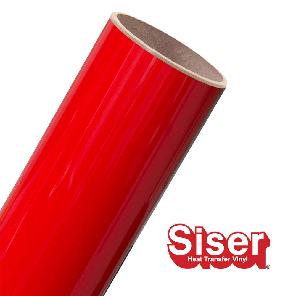 Siser EasyWeed HTV 11.8'' x 15ft Roll - Iron On Heat Transfer Vinyl (Bright Red)