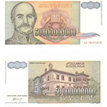 Yugoslavia 1993 50,000,000,000 Dinara; Pick 136