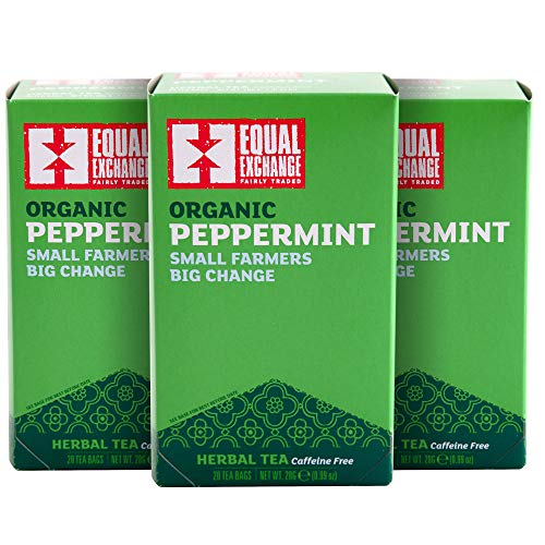 (Equal Exchange Organic Caffeine Free Peppermint Tea, 20-Count (Pack of 3))
