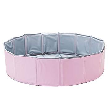 Bañera para Perros Baño para Mascotas Bañera para Gatos Bañera Plegable Medio Grande Suministros para el baño para Perros Azul Rosa Amarillo (Color : Pink): ...