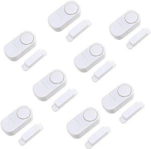 Door Window Alarm, Home Security Wireless Magnetic Sensor Burglar Anti-Theft Alarm (Pack of (8))