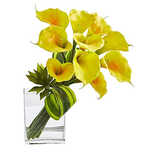 - Nearly Natural Calla Lily and Succulent Bouquet, 20