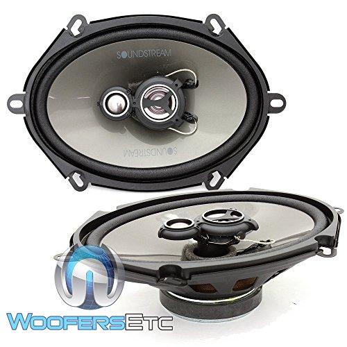Soundstream AF.573 Arachnid Series 5″x7″ 3-Way Speaker, 120w RMS, 4-ohm by Soundstream
