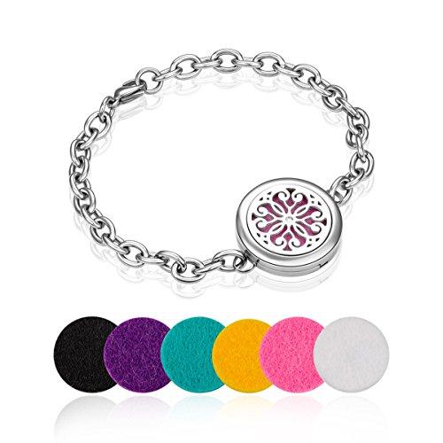 Aromatherapy Essential Oil Diffuser Bracelet + 6 Felt Pads