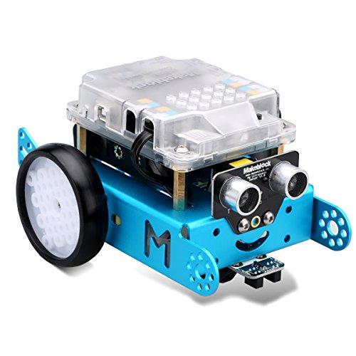 image Makeblock MBot Version Améliorée DIY Mbot V1.1 Arduino C Logiciel éducatif de Programmation Graphique pour Enfants / Adultes, Robotique électronique, STEM Education - Bleu (Version Bluetooth)