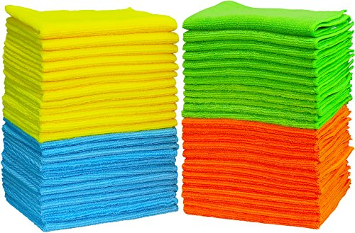 - 50 Pack - SimpleHouseware Microfiber Cleaning Cloth