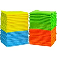50 Pack Simple Houseware Microfiber Cleaning Cloth