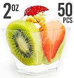 Mini Plastic Dessert Cups - Elegant, Professional & Disposable 2 oz Clear ...