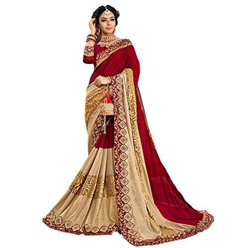a7f8823b44183d Craftsvilla Women s Georgette Resham Embroidered Saree with Blouse Piece  (MCRAF73579608230