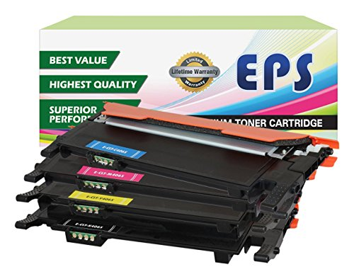 EPS Replacement Toner Set for Samsung 406 CLX-3300 CLX-3305 CLX-3305FN CLX-3305FW CLX-3305W SL-C460FW Xpress C460FW Xpress C460W CLP-360 CLP-365 CLP-365W SL-C410W Xpress C410FW Xpress C410W C460W