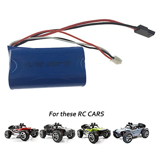 7.4V 1500mAh Li-ion Rechargeable Battery Pack for1/12 BG1513A RC Cars