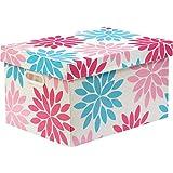 Caixa Organizadora Decorada Prontobox Flores Media - Unidade, Polycart, 7611/9, Multicolorido