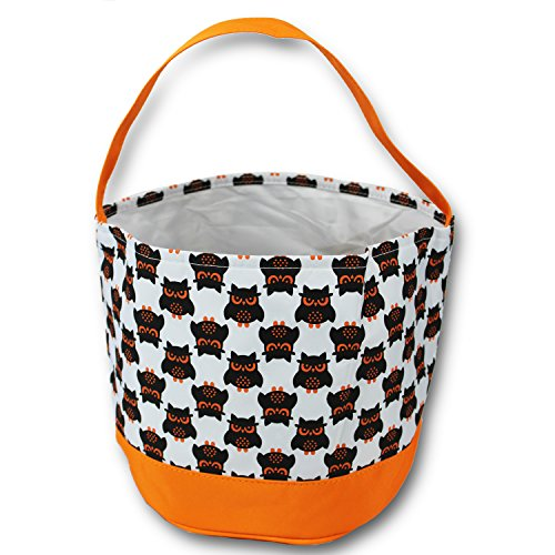Halloween Basket Bucket gift bags trick or treat children kids girls boys (Owl Halloween Treat Bags)