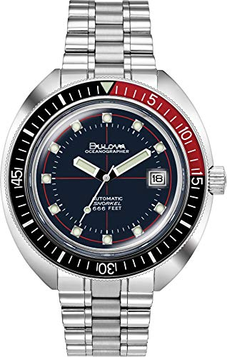 Men's Bulova Archive Series Devil Diver Oceanographer Special Edition Bracelet Watch 98B320 (Bridge Watch Automatic)
