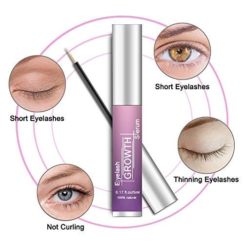 Eyelash Serum Eyelash Growth Serum Lash Enhancer Serum Eyelash Booster for Longer Fuller Eyelashes Eyebrow Enhancer Serum 5ml by Cafepola (Image #5)
