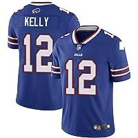 Thole Hombre NFL Camiseta Fútbol Bill Team 12# Kelly Equipo Fútbol Training Jersey Uniformes