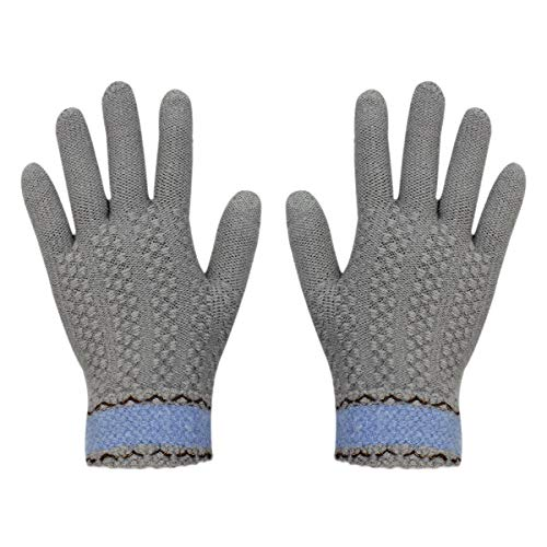 Gloves us Touch Screen Warm Winter Knitted Gloves Soft Thick Wool Windproof Cold Proof Thermal Mittens for Women Girls]()