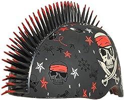 Bell Casco C Preme Krash Infantil Mohicano Pirata Estrellas, 54-58 cm, color negro