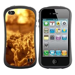 "Hypernova Slim Fit Dual Barniz Protector Caso Case Funda Para Apple iPhone 4 / iPhone 4S [Arte abstracto amarillo""]"