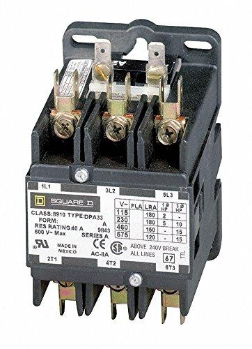 Dfinit Prpose Cntactr, 277VAC, 60A, 3P, Open