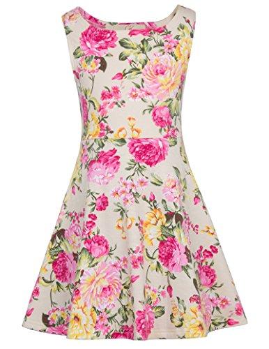 GRACE KARIN Kids Vintage Dresses Mother&Child Tea Party 11-12yrs CL487-2 Apricot