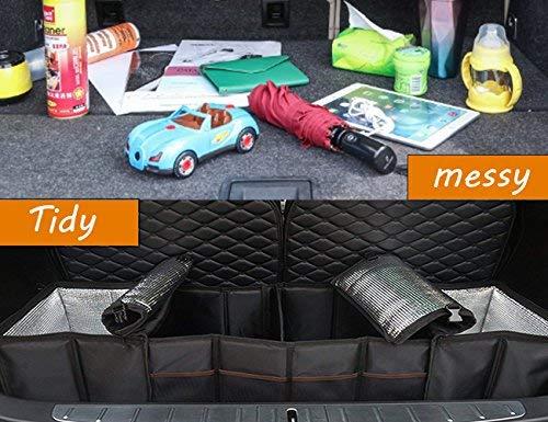 Topfit das hintere kofferraum organizer box k/önnen,dauerhafte faltbare cargo aufbewahrungsbox f/ür model x und model s